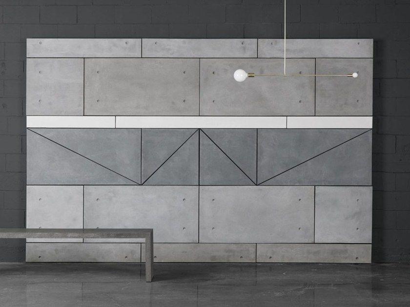 Fiber Reinforced Concrete Wall Tiles Table Top 2x4 Panels By Atelierb Concrete Wall Panels Concrete Wall Tile Tables