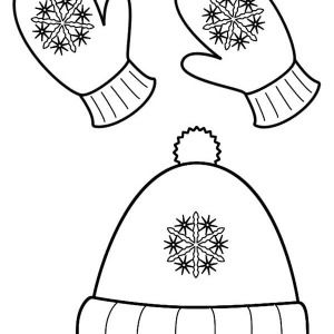 Winter Mittens Coloring Pages Winter Mittens Christmas Coloring