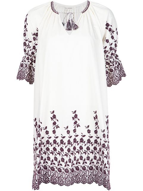 ULLA JOHNSON Embroidered Peasant Dress. #ullajohnson #cloth #dress