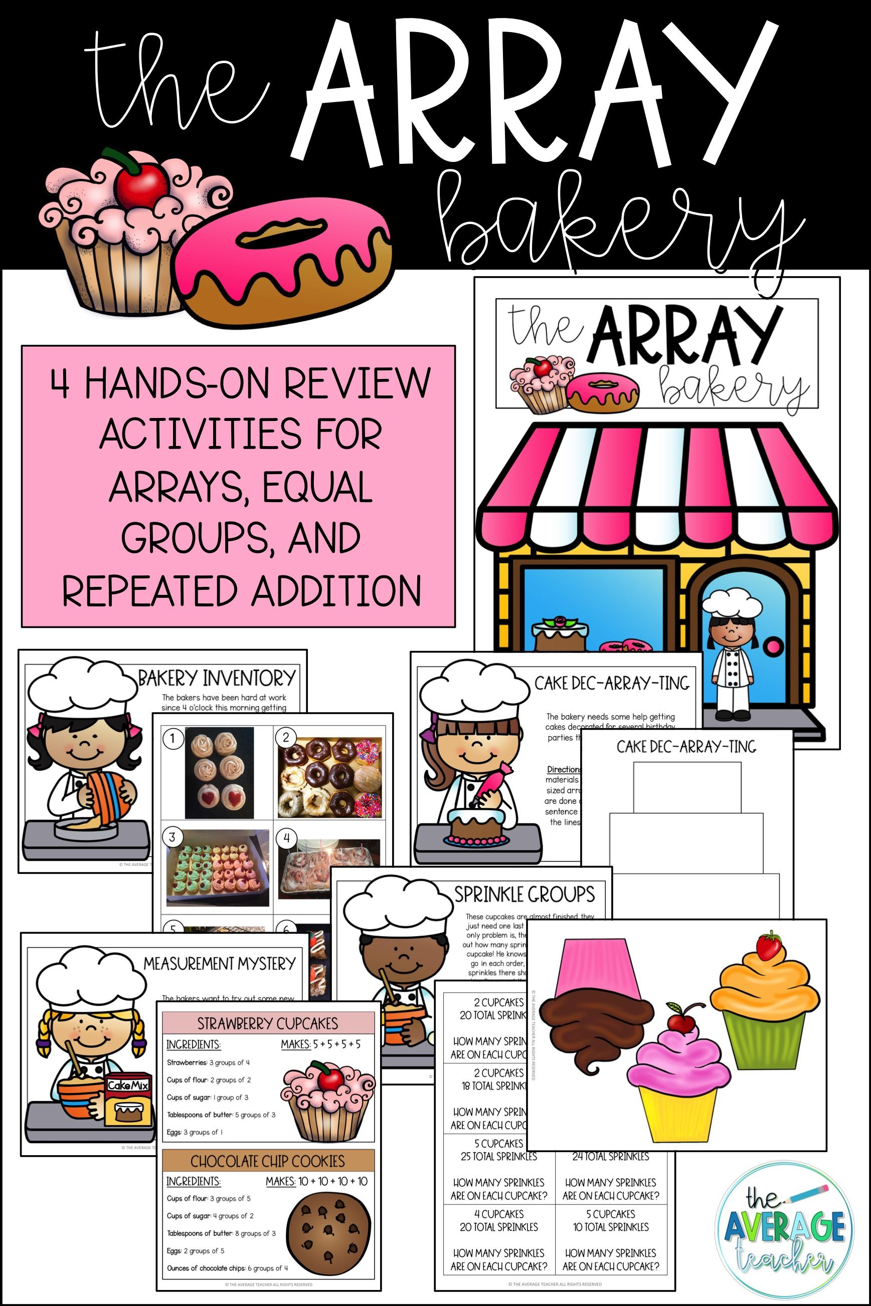 Arrays Activities For 2nd Grade Math
