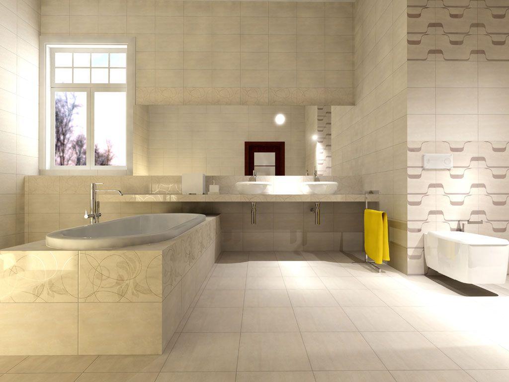 Bathroom interior design made of Zorka Keramika Tiles - Palace Collection