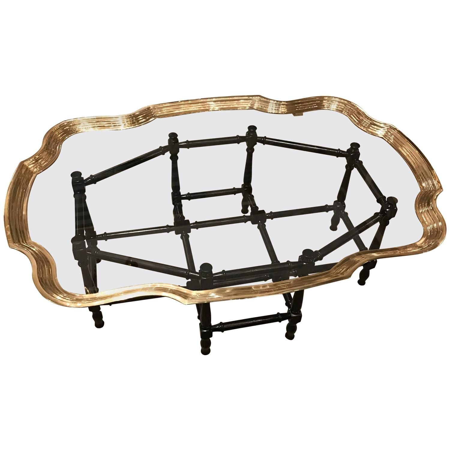 Mid Century Brass And Glass Coffee Table With Faux Bamboo Base Bamboo Coffee Table Glass Coffee Table Faux Bamboo [ 1500 x 1500 Pixel ]