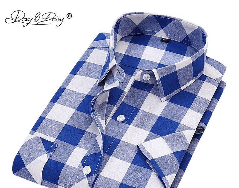 14986fd50ad2c Free shipping DAVYDAISY 2018 New Arrival Summer Men Shirts Man Classic Plaid  Short Sleeve Shirt Fashion Casual Man camisa masculina DS241.  shirt  tshirt