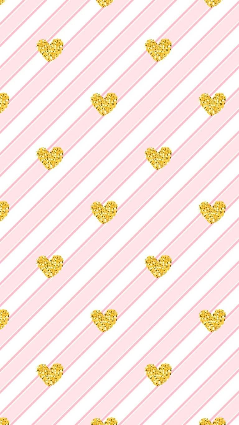 Pink And Yellow Paint Heart Samsung Galaxy J2 Core Hd Wallpapers Yellow Painting Painted Hearts Heart Wallpaper