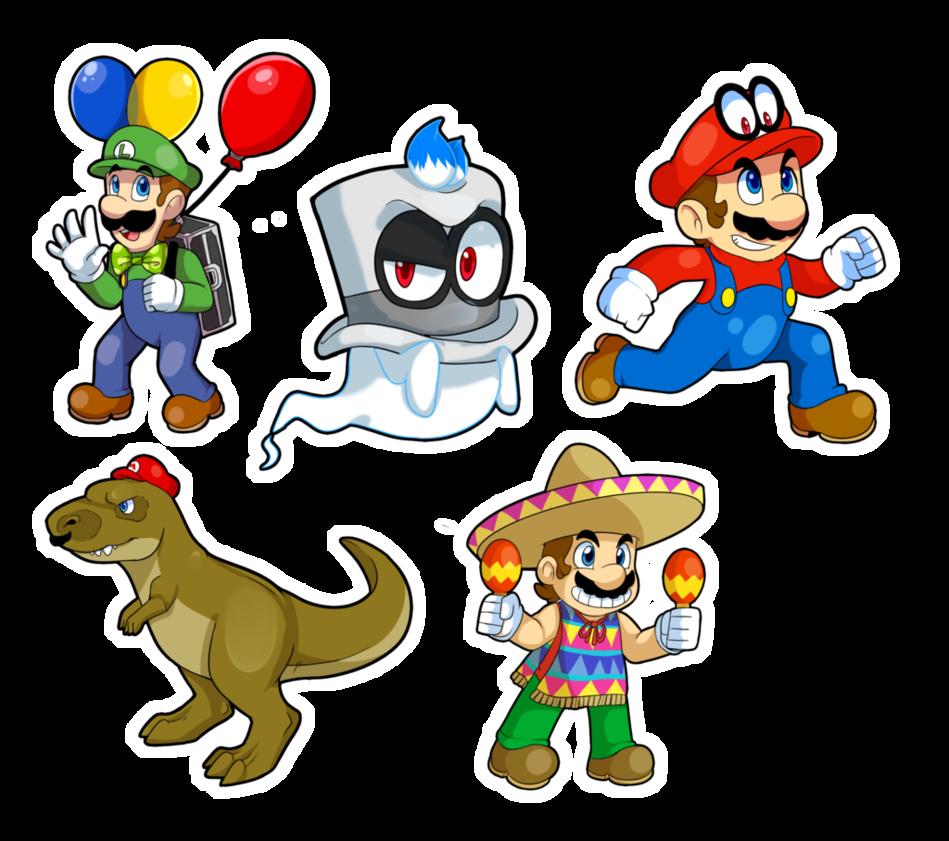 Mario Odyssey Stickers By Dragonpotato56 Super Mario Mario Mario Characters
