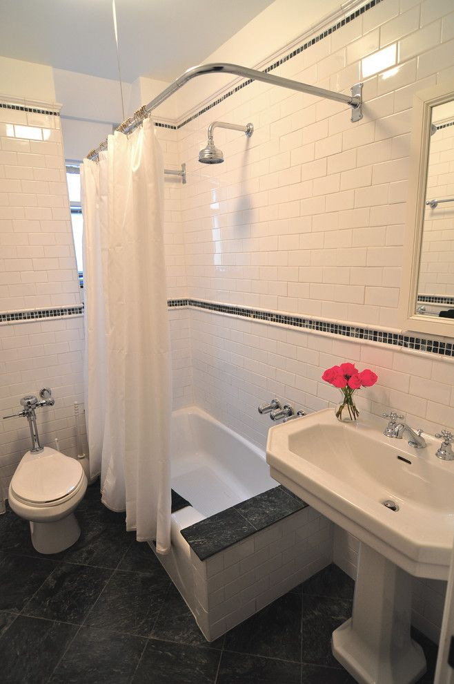 L Shaped Shower Curtain Tub Google Search White Subway Tile
