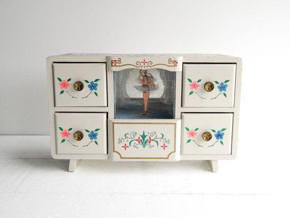 Vintage Bradley Clock Ballerina Music Box Television Alarm Clock SEE