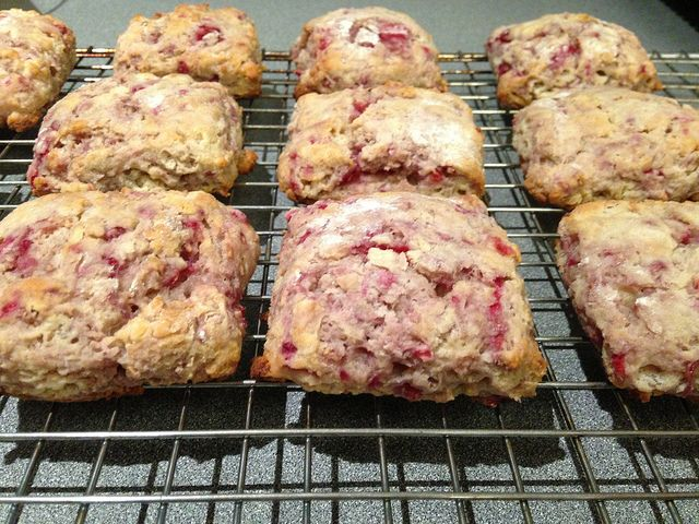 Whole Wheat Raspberry Ricotta Scones | Book clubs, Ricotta ...