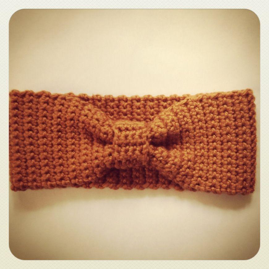 süßes Stirnband mit Schleife (Häkelanleitung von Madame bastelt ...