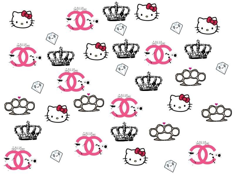 Hello Kitty Channel Diamond And Crown Layout Image Hello Kitty