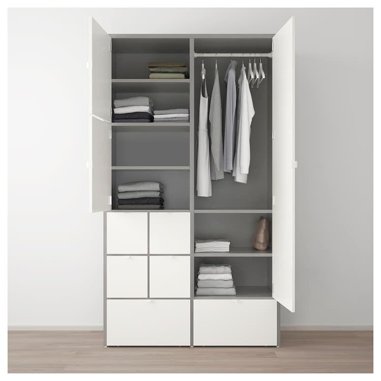 Ikea Hang Legkast.Visthus Kledingkast Grijs Wit Nieuwe Kamer In 2019