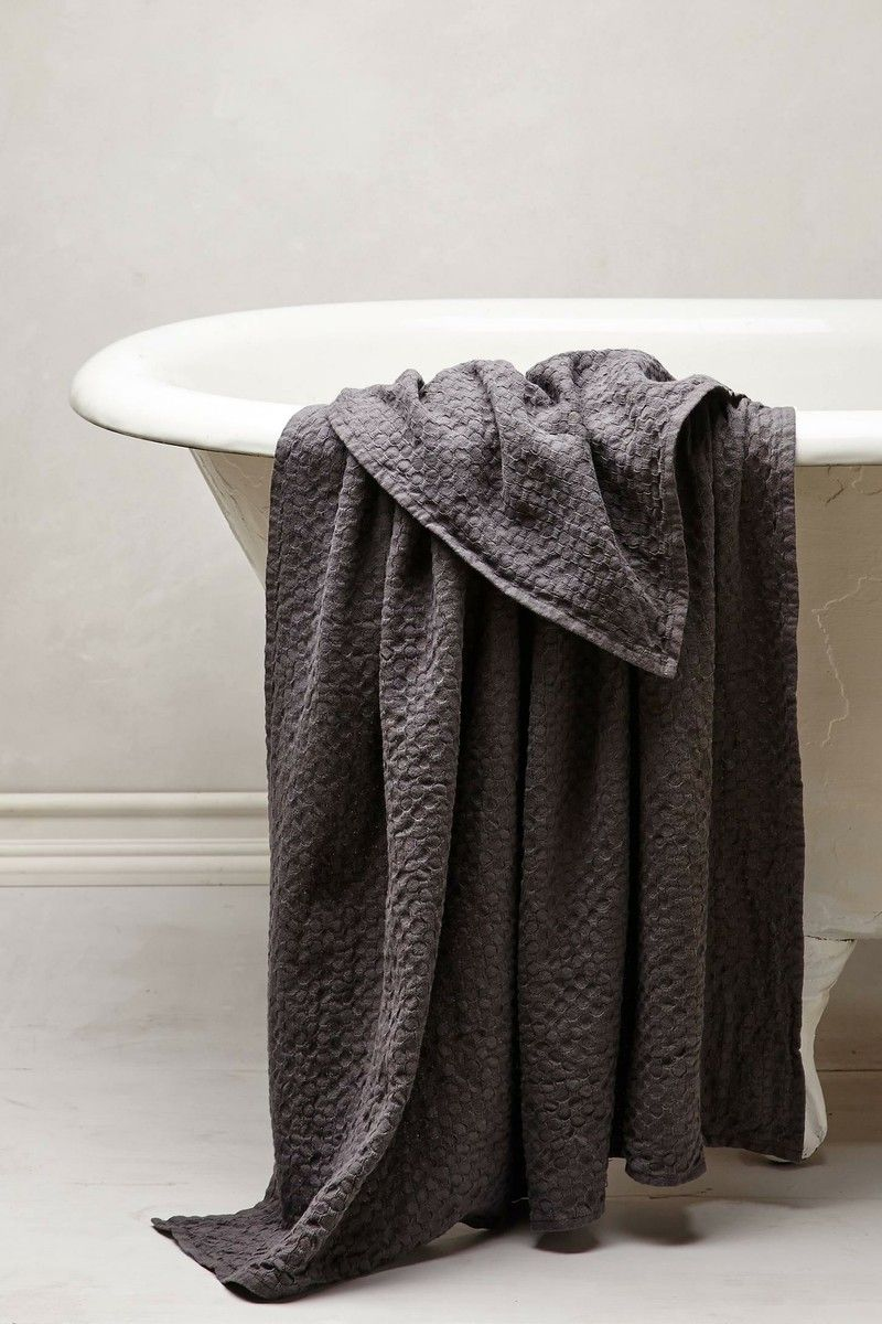 Anthropologie waffle weave towel product design