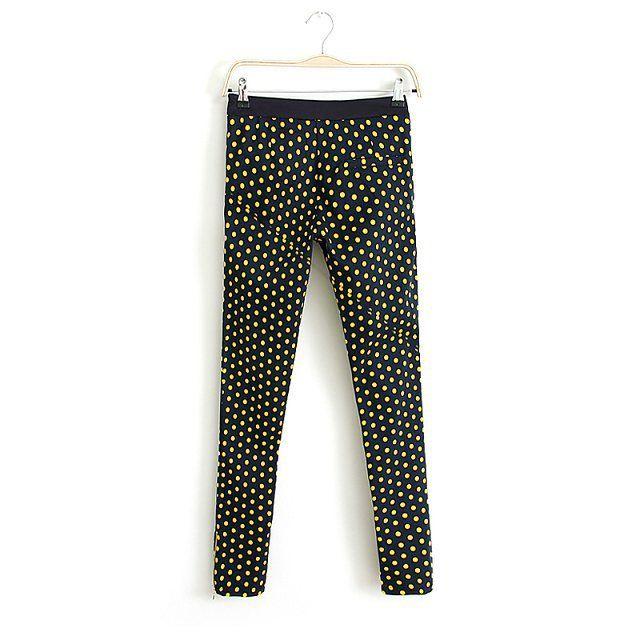 Polka-dot Zip Pants