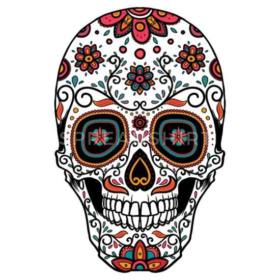 Sugar Skull Day Of The Women S Premium T Shirt Spreadshirt In 2020 Sugar Skull Tattoos Sugar Skull Wallpaper Sugar Skull Design