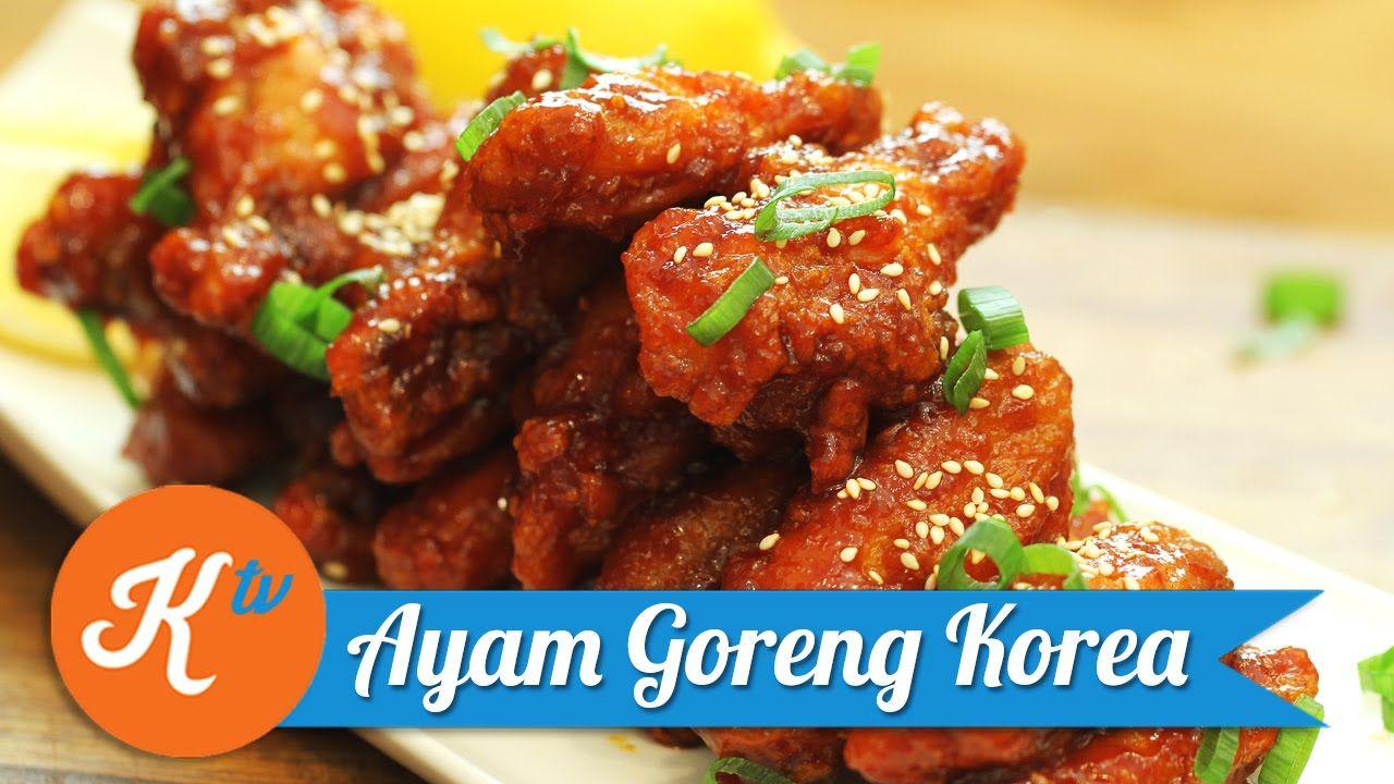 Resep Ayam Goreng Korea Sherla Aprilia Ayam Goreng Korea Resep Masakan Korea Resep Makanan