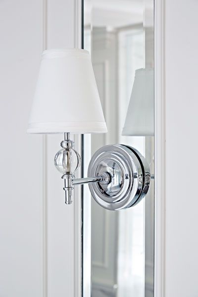 Wall Sconce In A Revamped Master Bath In Toronto Wall Sconces