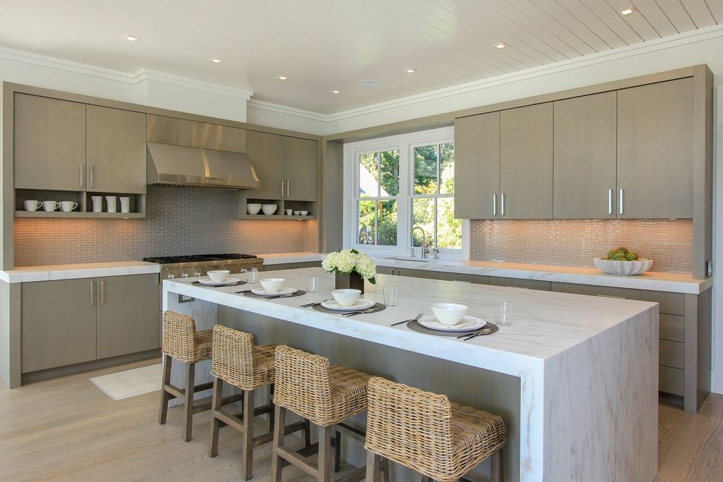 Great Contemporary Kitchen With European Cabinets Complex Marble Counters In Contemporary Kitchen Cabinets Kitchen Cabinet Crown Molding Contemporary Kitchen
