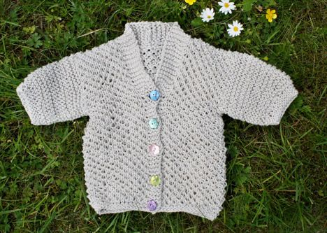 Summer Baby Cardigan Knit Pattern Knit And Crochet