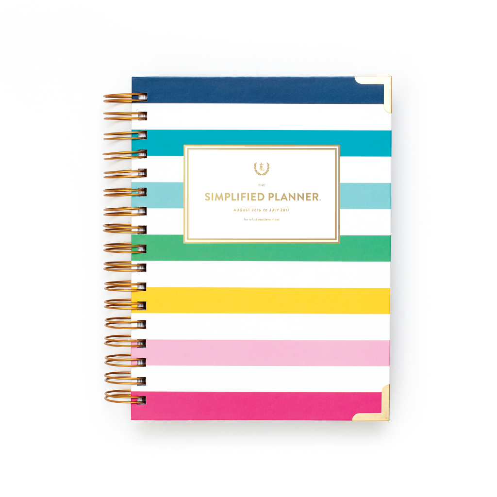 2017 Simplified Planner® Daily Happy Stripe| Stripe Planner| Day Planners 2017|