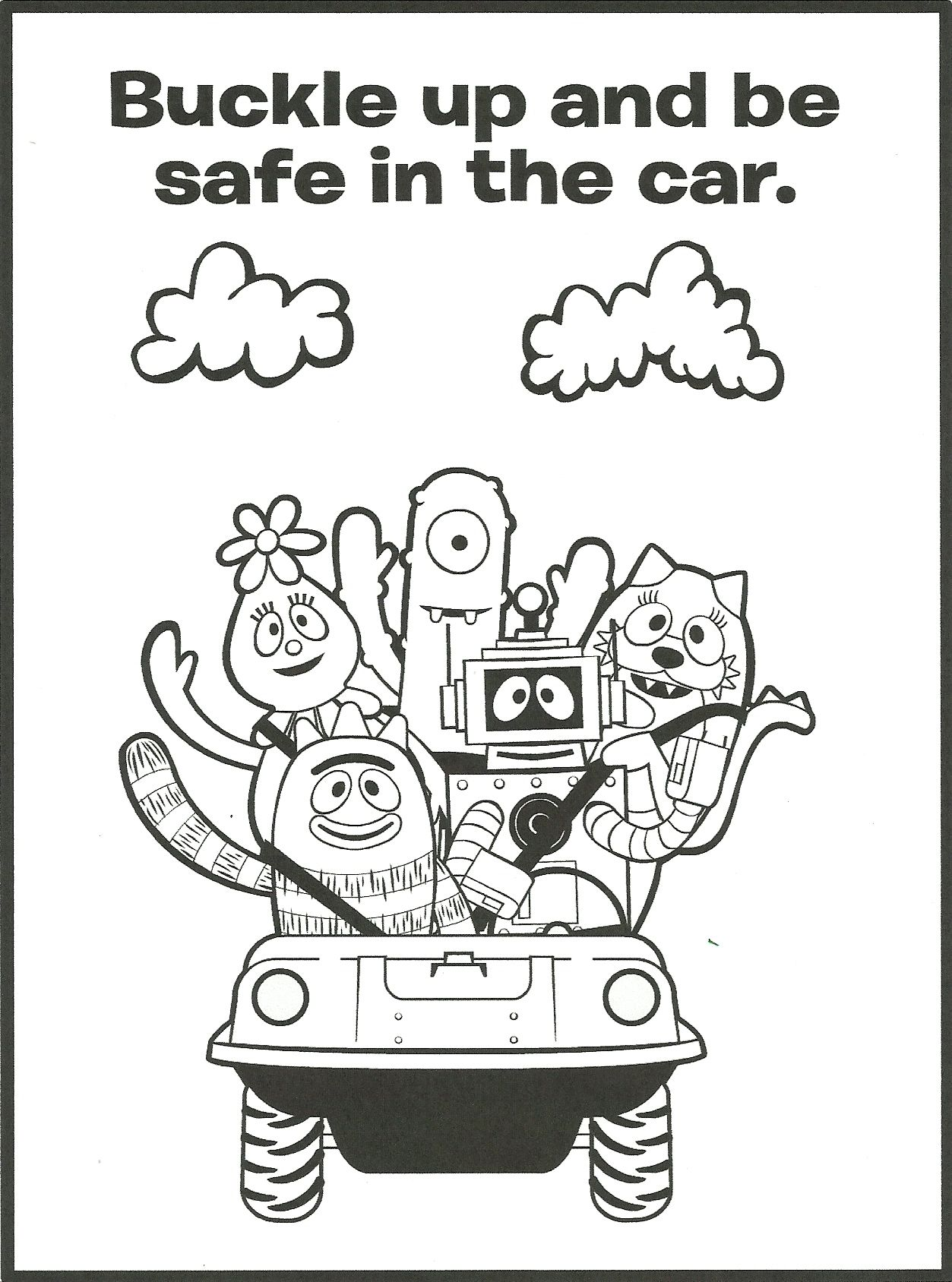 Gabba Gang Coloring Page | Brittani | Safety, Coloring pages ...