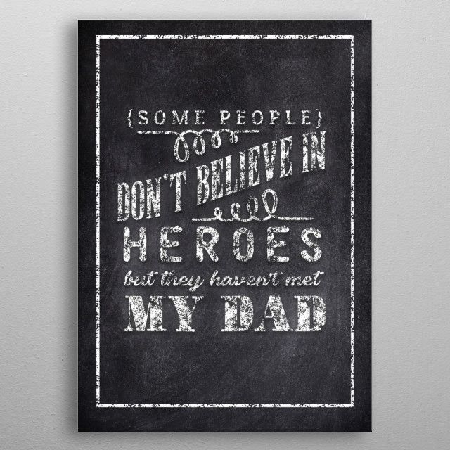 MY DAD by FARKI15 DESIGN | metal posters - Displate | Displate thumbnail