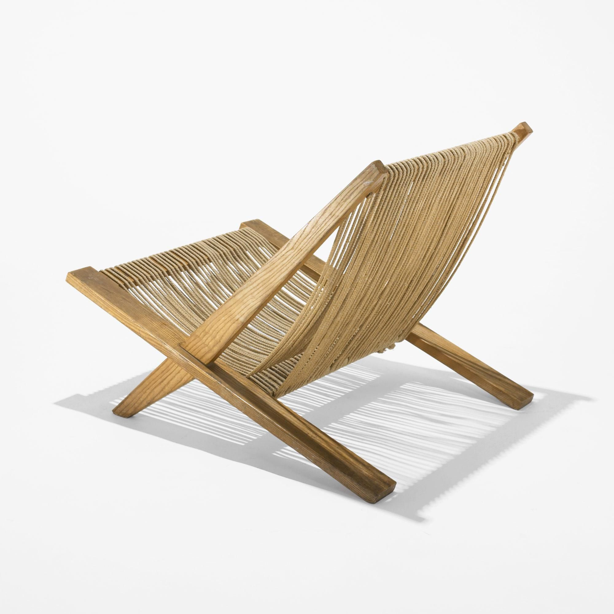 Poul Kjaerholm and J¸rgen H¸j Oak and Halyard Lounge Chair from