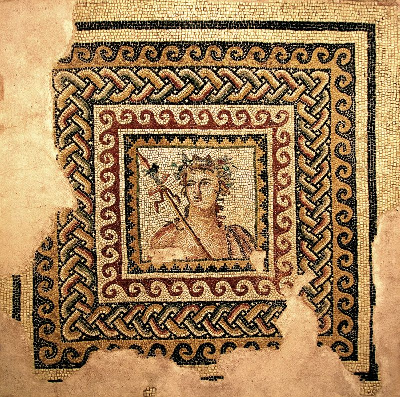 Portrait mosaic from Zeugma thought to be Dionysis