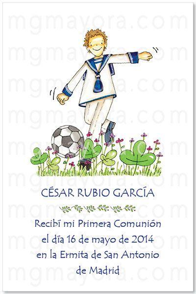 Recordatorio De Comunion De Nino Futbol Comunion Comunion Nino Primera Comunion