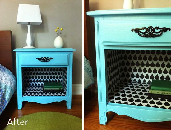 Created At 01 30 2013 Bedside Table Makeover Table Makeover