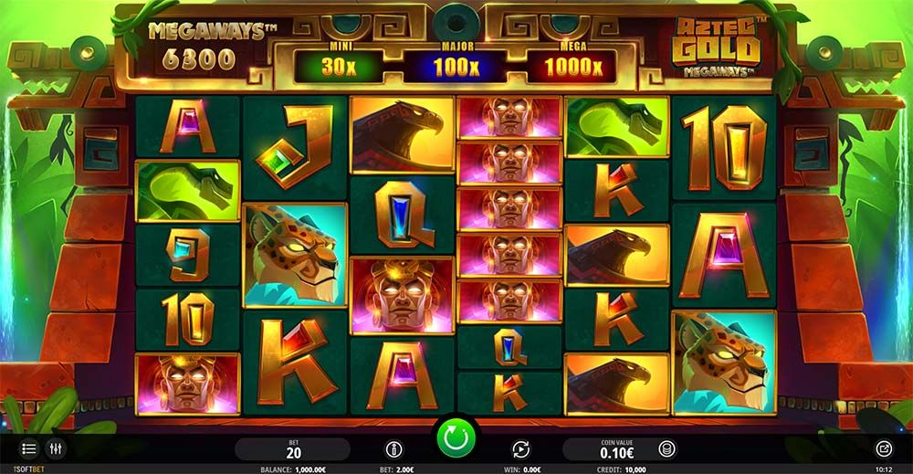 Review And Where To Play The Aztec Gold Megaways Slot From Isoftbet Wild Reels Aztec Gold Aztec Slot