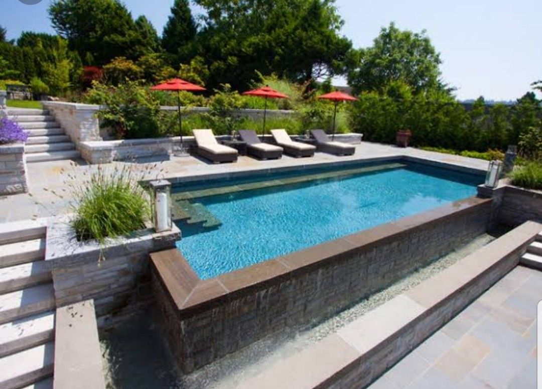 Pin By Audrey Trujillo On Pools Ideas Backyard Pool Pool Landscaping Swimming Pools