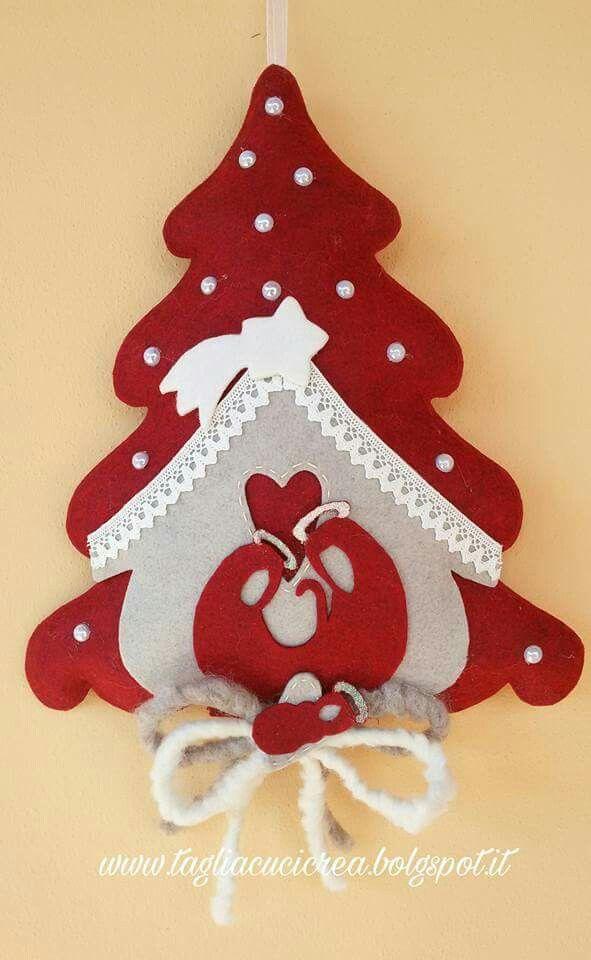 arbol de navidad en fieltro Cosas navidad Pinterest Fieltro