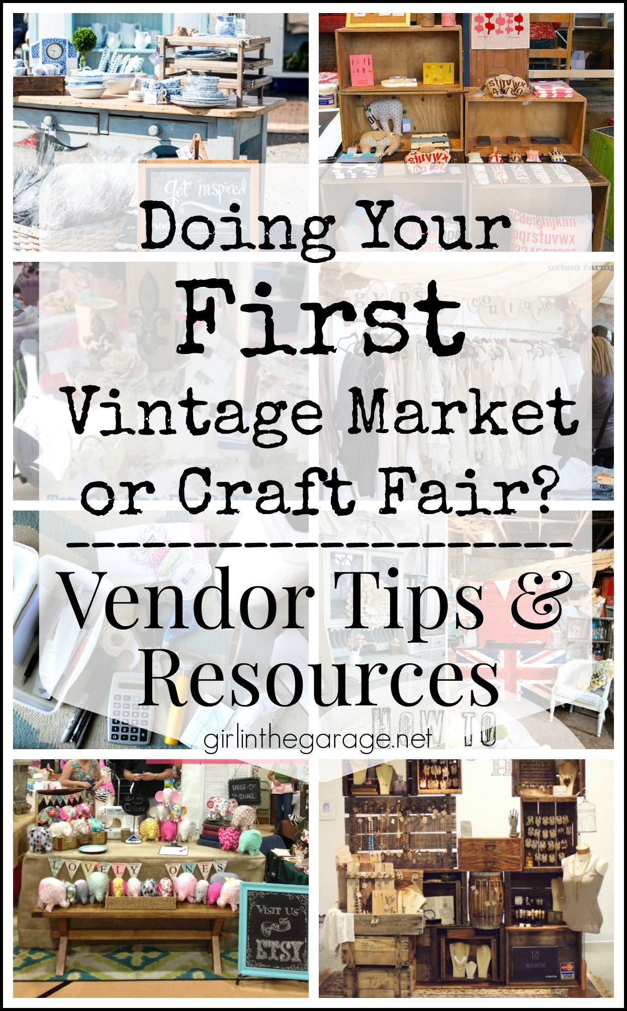 Doing your first vintage market or craft fair vendor