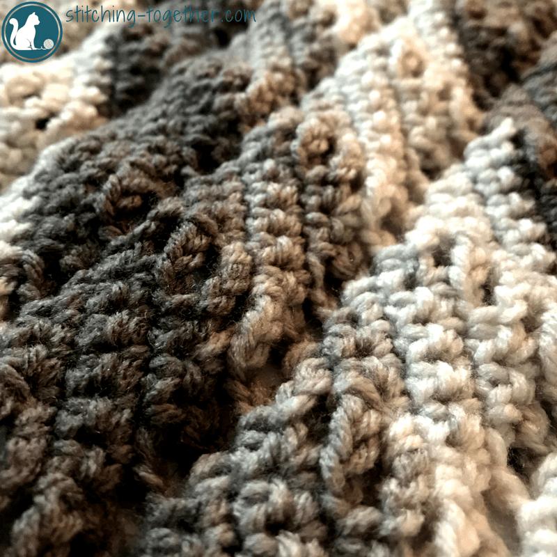 Diamond Lace Crochet Baby Blanket