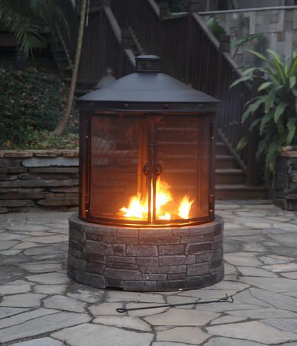Backyard Creations® Cast Stone Fire Pit | Outdoor Fireplace ...
