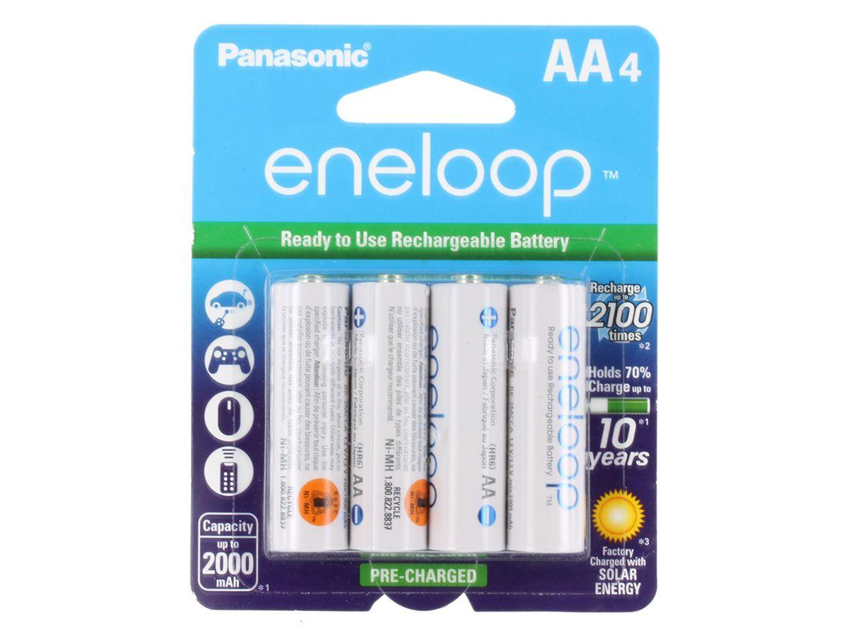 Panasonic Eneloop Aa 2000mah 1 2v Low Self Discharge Nickel Metal Hydride Nimh Rechargeable Batteries Bk 3mcca4ba 4 Nimh Rechargeable Batteries Panasonic