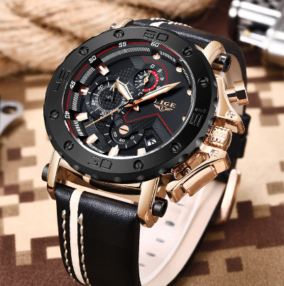 2020 LIGE New Fashion Mens Watches Top Brand Luxury Big Dial Military Quartz Watch 2020 LIGE New Fashion Mens Watches Top Brand Luxury Big Dial Military Quartz Watch Leat...