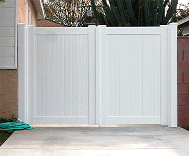 Vinyl Double Gate Renovation Fence Doors Driveway