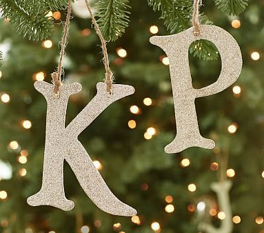 Glitter Alphabet Letter Ornaments Christmas Tree Decorations For Kids Letter Ornaments Christmas Ornaments