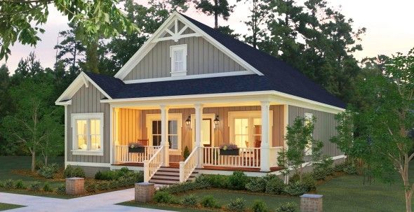 Open One Story House Plan