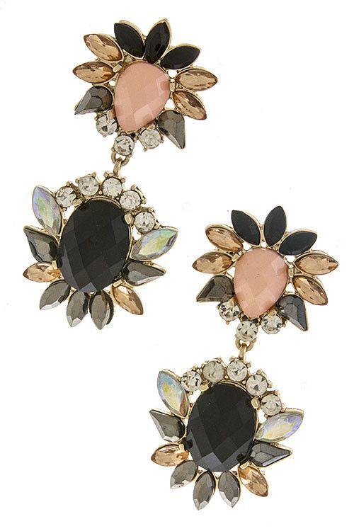 Specks of Opal Drop Earrings -Sophia