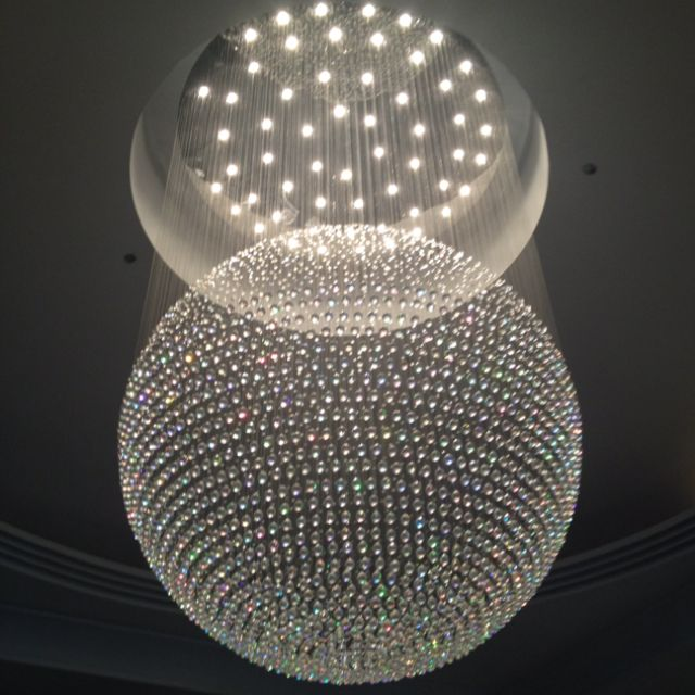Crystal sphere chandelier i saw this at the home store how neat crystal sphere chandelier i saw this at the home store how neat aloadofball Gallery