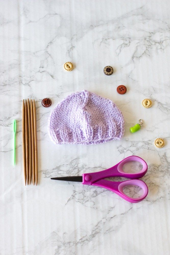 Basic Preemie Hat Free Knitting Pattern and video tutorial | Pinterest