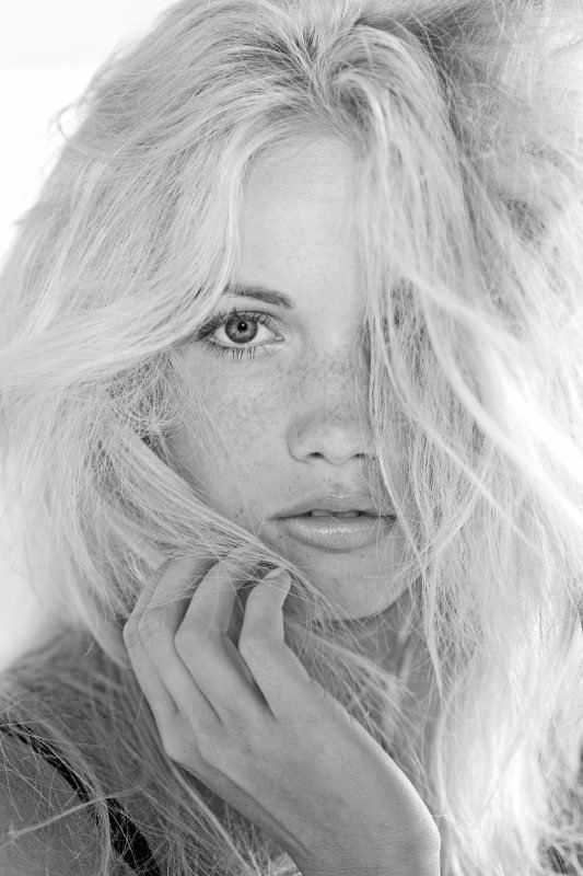 blonde with freckles