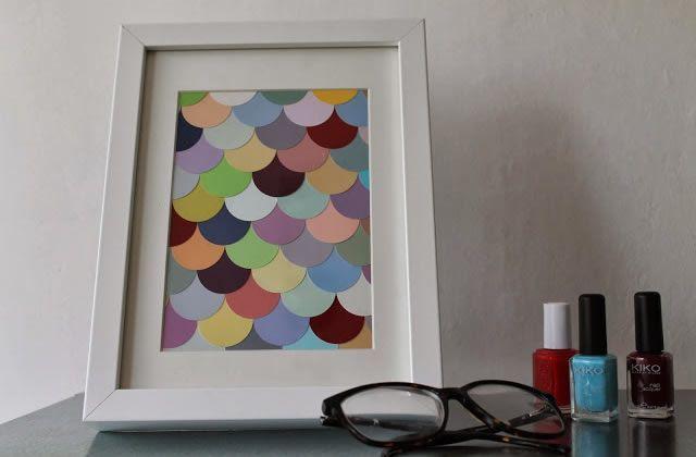DIY \u2014 Un cadre coloré pour contrer la grisaille Diy paper and Craft - installer un cadre de porte