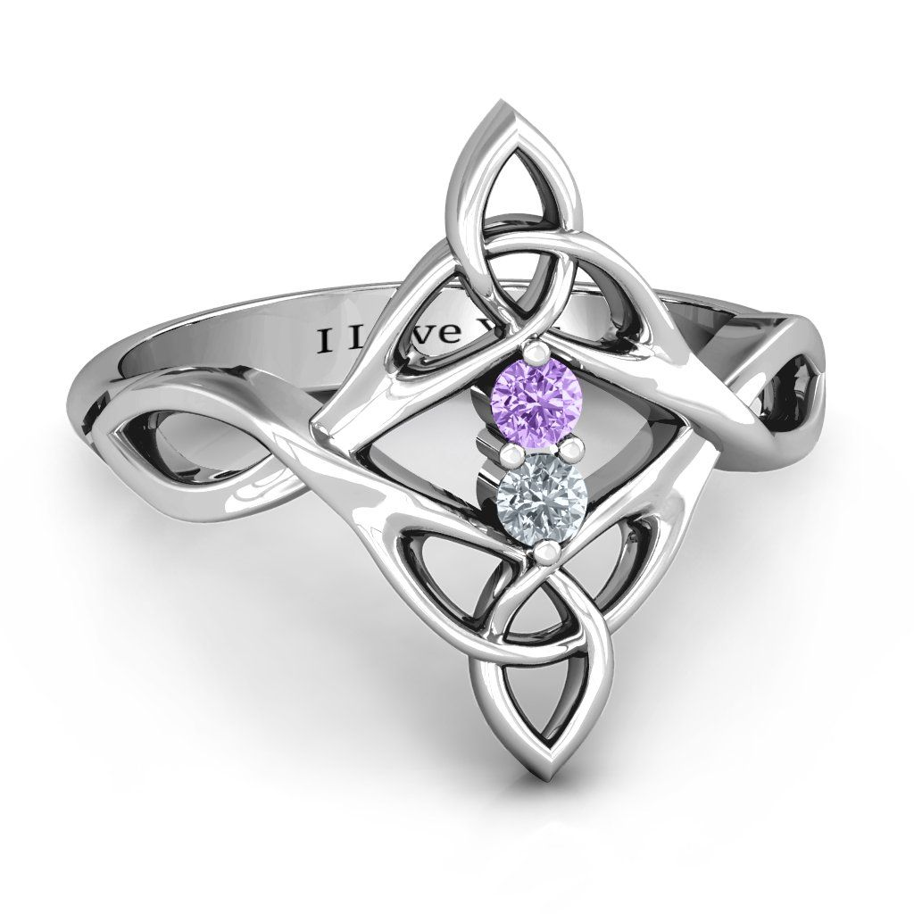 Celtic Sparkle Ring with Interwoven Infinity Band in 2019
