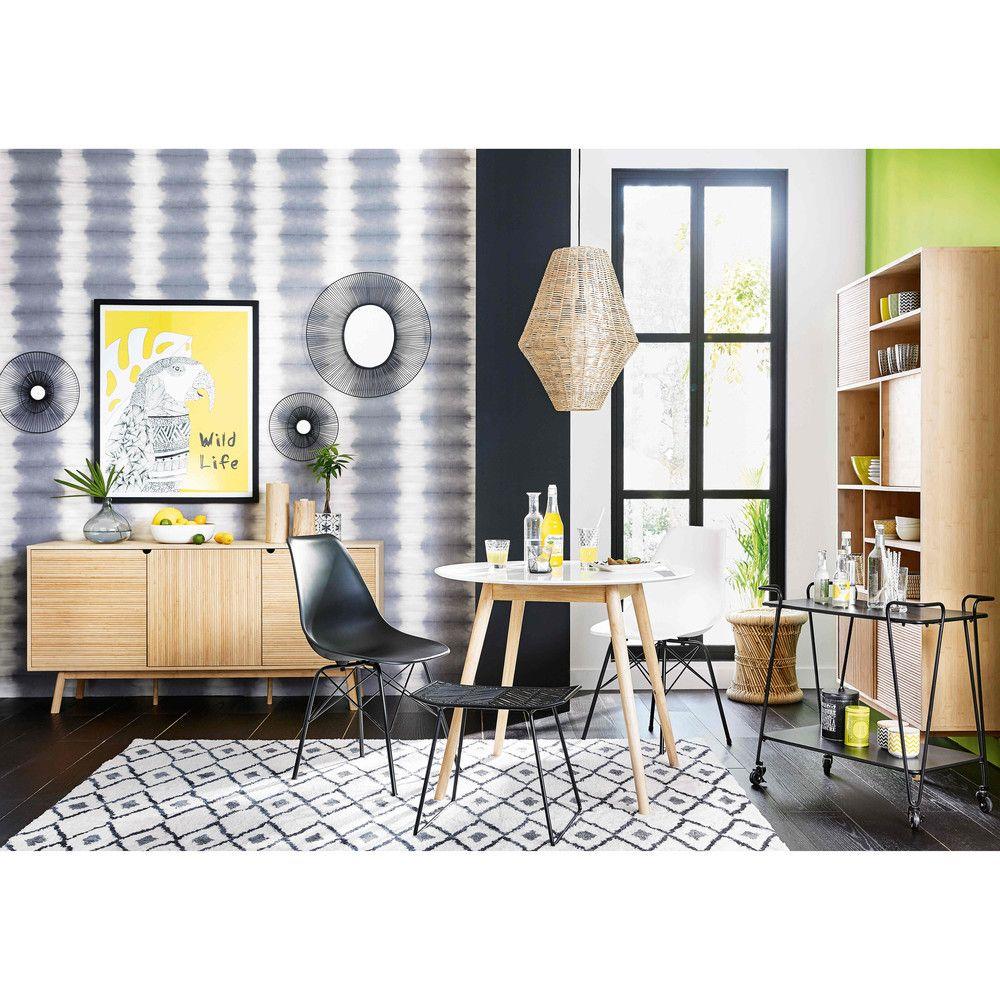 tapis berb re noir et blanc 140x200 tissu noir tapis et d co salon. Black Bedroom Furniture Sets. Home Design Ideas