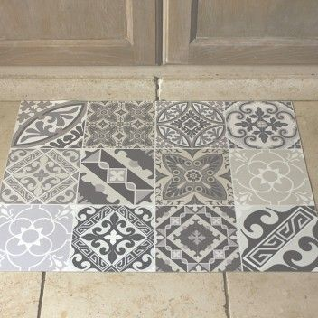 Tapis azulejos eclectic home sweet home for Tapis vinyl carreaux ciment
