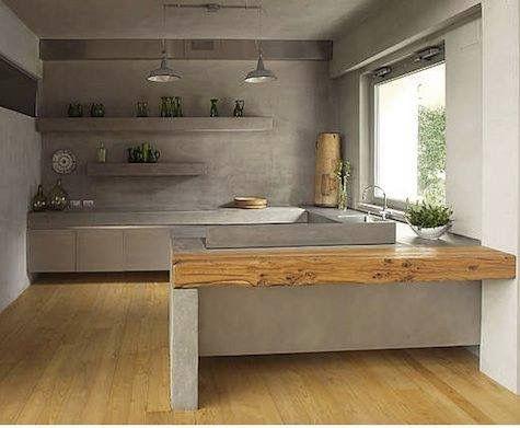 Épinglé Par Susan Wilkins Sur House Design Pinterest Plan De - Table salle a manger beton cire pour idees de deco de cuisine