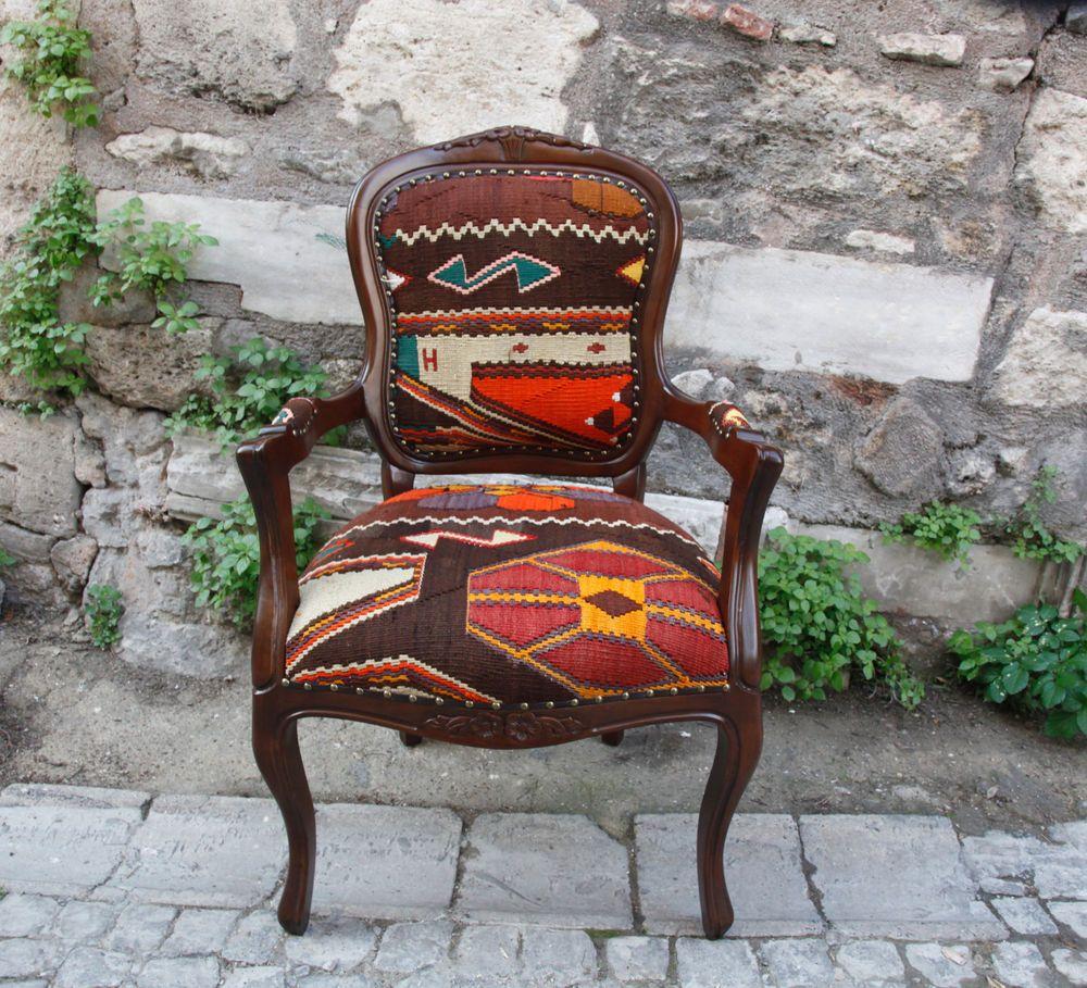 Decorative Handmade Kilim Fabric Upholstery Chairdining Room Set Fair Handmade Dining Room Chairs Design Inspiration